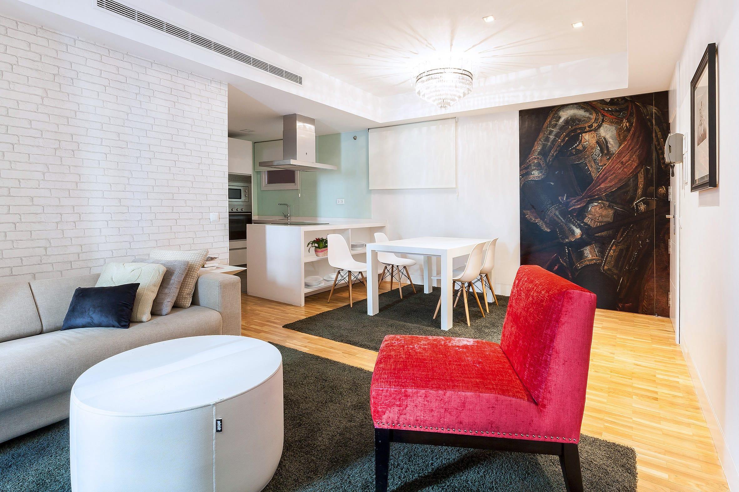 El salón comedor del apartamento